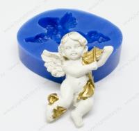Молд силиконовый Ангел со скрипкой 33х24х7 мм (1 шт)