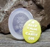 Молд силиконовый камея Keep Calm and Carry On 40х30х6 мм (1 шт)