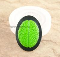 Молд силиконовый камея Анатомия (мозг) 40х30х5 мм (1 шт)